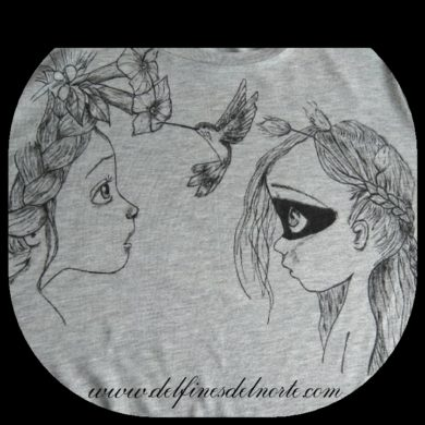 comprar camiseta pintada a mano para mujer